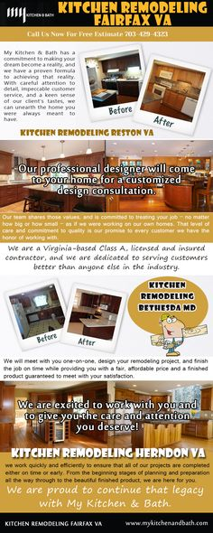 Visit this site http://mykitchenandbath.com/ for more information on Kitchen Remodeling Fairfax VA. A kitchen remake is one of the most desirable home improvement projects for many homeowners.