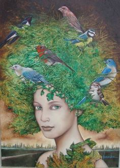That the birds of worry and anxiety are flying over your head, you can not prevent it, but you can avoid that will build a nest.  \ Proverbio cinese \  artist -  Catherine Alexandre