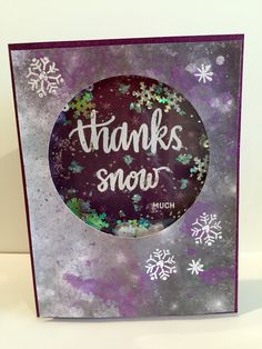Shaker card using the Jan. 2015 Card Kit from Simon Says Stamp.  #SSSFAVE is the stamp set this month!! Love the winter theme!!