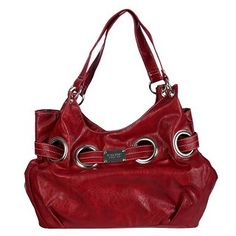 Nine West Belted Circus Shopper Bag -- RED