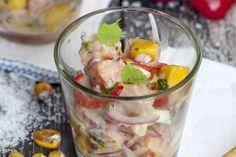 Receita de Ceviche tropical de salmão