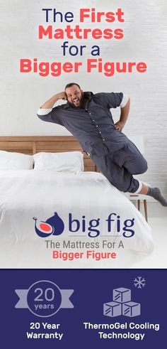 Plus size sleepers are loving our new mattress! The Big Fig Mattress is the first mattress made specifically for plus-size consumers. With ThermoGel cooling technology, high-density foam, and a hybrid innerspring system, the Big Fig Mattress fits all the needs of a plus size sleeper. This is a mattress made to last, backed by a 20 year full replacement warranty. Now offering financing up to 36 months.