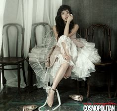 Seo Woo in Cosmopolitan Korea July 2010 Korean Celebrities, Celebs, Cosmopolitan, Editorial Fashion, Fashion Show, Ballet Skirt, Victoria, Gowns, Couture