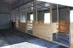 New Metal Barn Door Horse Stalls Ideas Dream Stables, Dream Barn, Horse Stables, Horse Farms, Horse Arena, Goat Barn, Farm Barn, Diy Horse, Horse Tips