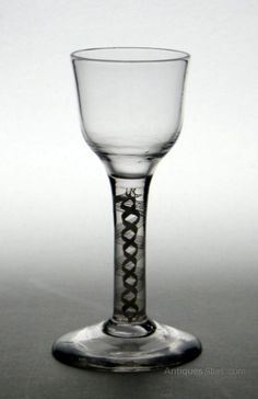Antiques Atlas - Georgian Short Stem Opaque Twist Wine Glass C1760