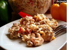 Apetyt i Smak: Sałatka z ryżem, kurczakiem i prażonym słoneczniki...