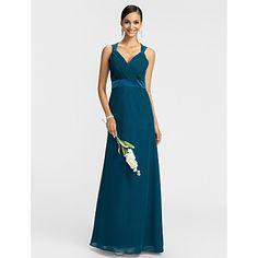 Light in the box - in this color or dark navy.  I love this, would it work?  Sheath/Column Queen Anne Floor-length Chiffon Bridesmaid Dress – USD $ 79.19