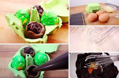 L'onctueuse mousse au chocolat spéciale Pâques