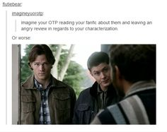 Poor Chuck. He is probably one of my favorite characters Supernatural ever created. I mean, he is Chuck. He has an archangel who protects him, but is scared of Sam and Dean. It is adorable.