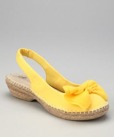 Take a look at this Yellow Cheerful Espadrille Slingback by Cliffs by White Mountain on #zulily today! $24.99