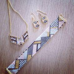 ― 「La production de la semaine, le bracelet Menphis de et , qui est…」 Loom Bracelet Patterns, Bead Loom Bracelets, Bead Loom Patterns, Seed Bead Jewelry, Beaded Jewelry, Handmade Jewelry, Diy Jewelry, Jewellery, Bracelets