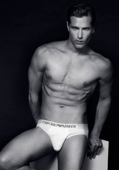Fabio Mancini at D'men Model in Milan, in a Fashionisto Exclusive about Emporio Armani Underwear by Jason Harryfor -J une 2014.