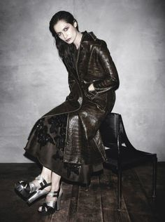 Caroline de Maigret by Steven Meisel for Prada Fall 2013