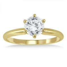 1 Carat Diamond Solitaire Ring in 14K Yellow Gold Szul. $929.00. 30 Day Money Back Guarantee. 60 Day Complimentary Repair Service. Complimentary Packaging