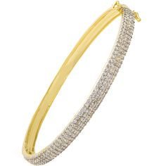 Bracelete cravejado com zircônias semi-joia