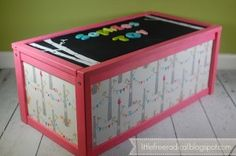 DIY IKEA hack: APA Toybox... Doing this for both girls' rooms eventually.