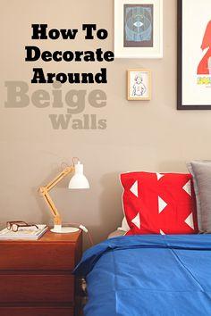 between beige walls brown floor tiles and oak wood cabinets most rental apartments - Beige Apartment Design