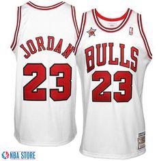 Camiseta Jordan NBA Blanca Michell   Ness Chicago Bulls 23 All Star 98 -  Tienda de Futbol Americano 652bd840375