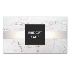 Chic Interior Designer Silver Striped White Marble Pack Of Standard Business Cards