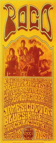 Poco Concert Poster Designed By Jim Harter