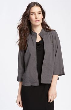 Eileen Fisher Stand Collar Jacket | Nordstrom