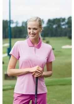Buy Adidas Golf Ladies Climalite Short Sleeve Piqu Polo in Bulk Adidas Brand, Adidas Golf, Golf Outfit, Summer Shirts, Rib Knit, Contrast, Button, American, Lady