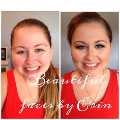 Before and after, wedding make up. Beautiful faces by Erin