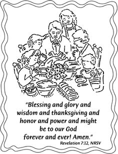 Thanksgiving Coloring Pages Scripture Thanksgiving Scriptures, Thanksgiving Coloring Pages, Revelation 7, Free Printables, Blessed, How Are You Feeling, Wisdom, Pdf, Feelings