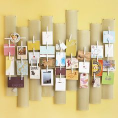 This modern memo board is made from re-purposed finds!