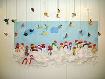 Happy birds with the snowmen www.tuijantekosia.weebly.com