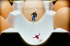 """Cracking Tricks"" My little skateboarders enjoying a skate in my ceramic egg holder. www.steviespiersphotography.com"