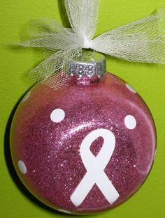 Breast Cancer Hope Christmas ornament I made.