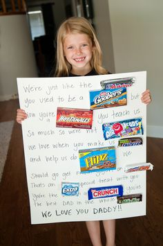 Father's Day Candy Bar Poster -  the kids would love doing this