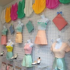 A creamsicle display in the Shibuya store in Japan. #AmericanApparel #pastel