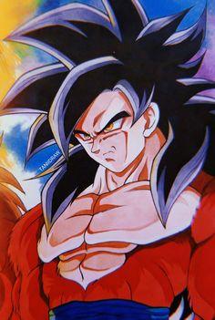 Dragon Ball Z, Super Saiyan 4 Goku, Anime Naruto, Goku Wallpaper, Ball Drawing, Son Goku, Anime Kawaii, Nerd, I Love Anime