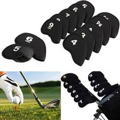 Identify your irons and protect them all at the same time with these headcovers! 53% Off - $9 with FREE shipping! #HalfOffDeals #GolfIronHeadcovers #GolfAccessories #Golf