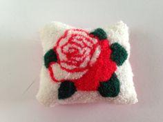 Red Punch Needle Rose Sachet  Lavender & by EightBoardsFarm, $15.00