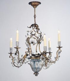Rose Uniacke - Shop - A Gilt Iron Six Branch Chandelier by Maison Bagues