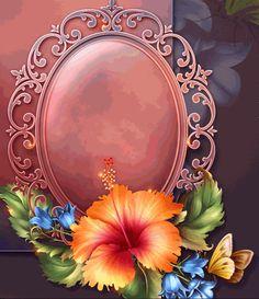 RB Flower Frame, Flower Art, Royal Pattern, Floral Artwork, 3d Laser, Frame Clipart, Borders And Frames, Rare Animals, Paper Background