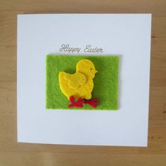 Check out this item in my Etsy shop https://www.etsy.com/uk/listing/469719316/easter-card-easter-felt-chick-card-kids