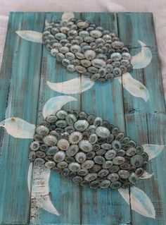 20 diy shell decor ideas to make this summer do it yourself ideas shell turtle turtle art turtle on pallet by fromcapemaywithlove by luann solutioingenieria Image collections