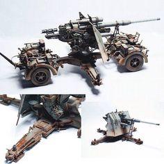 88mm Flak 37 Dragon 1/35 by Gaomubaobao from: missing-lynx  #scalemodel #plastimodelismo #miniatura #miniature #miniatur #hobby #diorama #humvee #scalemodelkit #plastickits #usinadoskits #udk #maqueta #maquette #modelismo #modelism