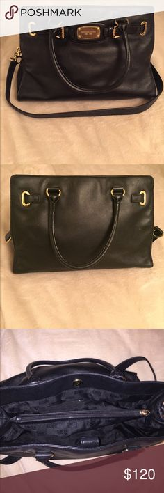 Michael Kors Hamilton Bag Black Hamilton bag, in great condition, measures approximately 10.5 D x 4W x 15L Michael Kors Bags Satchels