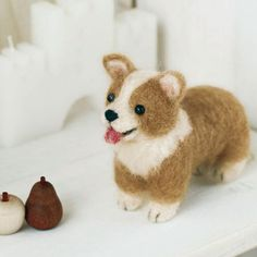 Items similar to Japanese Wool Needle Felting Craft Kit (Pick Welsh Corgi or Labrador Retriever on Etsy Wool Needle Felting, Needle Felted Animals, Felt Animals, Felted Wool Crafts, Felt Crafts, Mochi, Felt Dogs, Diy Stuffed Animals, Craft Kits