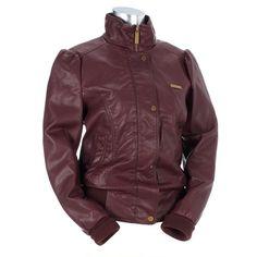 Faux Leather Bomber Jacket #WarmCoatsWarmHeartsPin