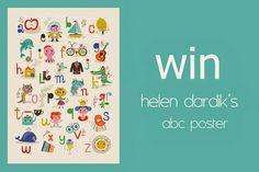 #Giveaway #ABC #Poster 50x70 by Helen #Dardik by Oon from www.kidsdinge.com https://www.facebook.com/pages/kidsdingecom-Origineel-speelgoed-hebbedingen-voor-hippe-kids/160122710686387?sk=wall #WIN