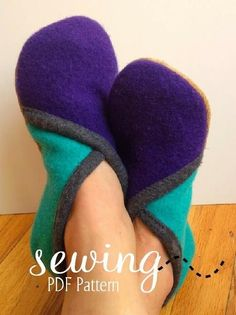 Sewing: Crossover Slippers