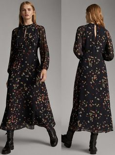 On the last engagement of South Korea State visit, Queen Letizia of Spain wore an elegant Massimo Dutti Confetti Print Dress. The dress was simple yet regal Cos Dresses, Spanish Queen, Queen Dress, Queen Letizia, Dress With Boots, Fashion Dresses, Fashion Clothes, Shirt Dress, Stylish