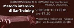 """VENERDI' 12 Luglio 2013, alle 17.30 presso la MEDIATECA REGIONALE PUGLIESE a BARI, Vincenzo """"Viz"""" Maurogiovanni terrà uno showcase di presentazione del suo """"Metodo intensivo di Ear Training"""" metodo didattico per l'allenamento dell'orecchio musicale dedicato ad ogni categoria di musicista.  https://www.facebook.com/events/394331717344061/"""