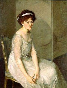 Impressionist Painter William McGregor Paxton (1869-1941), Sylvia 1908